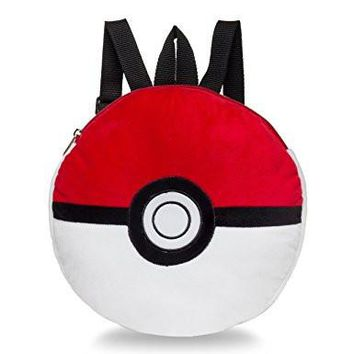 Pokemon Pokeball Plush Backpack