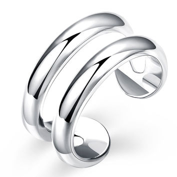 Double Line Open Ring
