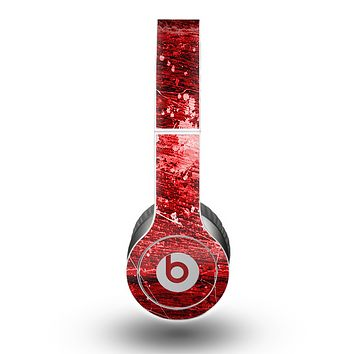 The Red Grunge Paint Splatter Skin for the Beats by Dre Original Solo-Solo HD Headphones