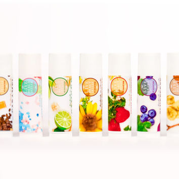 Lip Balm Variety Pack - All Natural - Mini Lip Balms