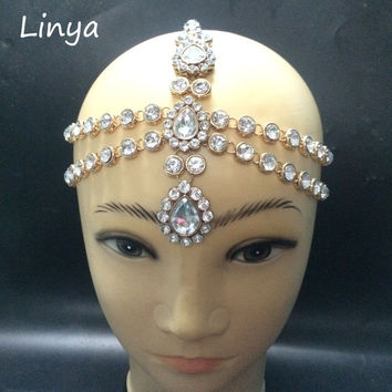 HC-102 Diamante head band hair jewelry wedding bridal head Jewelry birthday boho