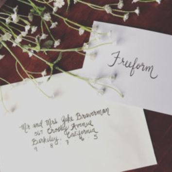 Hand Lettered Envelopes for Wedding Invitations