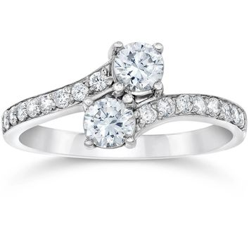 1 Carat Forever Us Diamond Two Stone Engagement Ring
