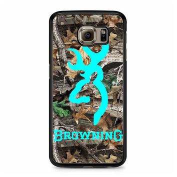 Mint Deer Camo Browning Samsung Galaxy S6 Case