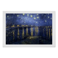 Van Gogh | Starry Night Over The Rhone | 1888 Poster