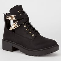 Qupid Valiant Womens Boots Black  In Sizes