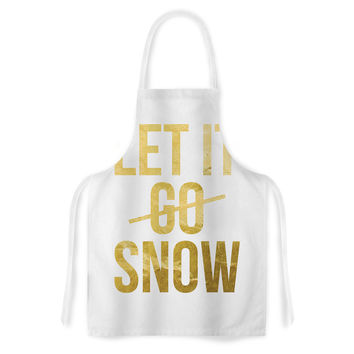 "KESS Original ""Let it Snow"" Typography Artistic Apron"