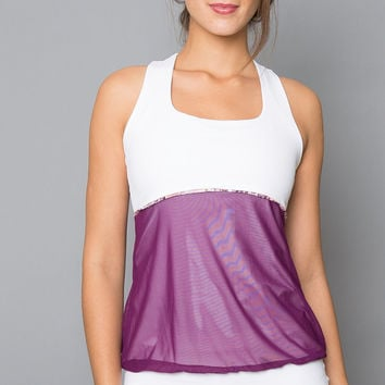 Mulberry Racer-back Top (purple)