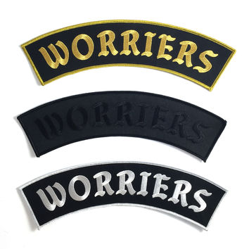 Worriers Anxiety Club Top Rocker Patch
