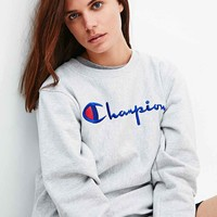Champion Logo Sweatshirt in Grey - Urban Outfitters