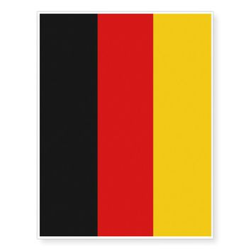 Patriotic temporary tattoos Flag of Germany