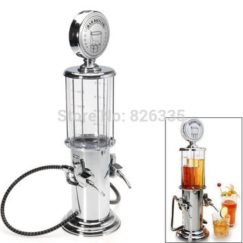Vintage Gas Station Drink Dispenser Bartending Beer Machine with Double Pumps