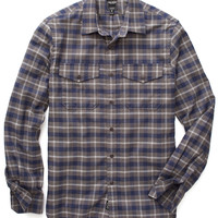 Flannel Plaid Shirt Grey/Blue