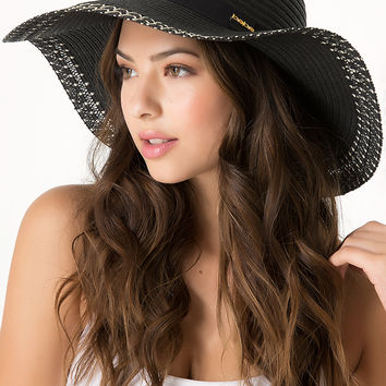 bebe Womens Stitched Edge Floppy Hat