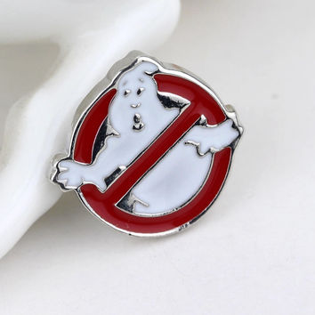 Hot Sale Jewelry Movie Ghostbusters Logo Metal Pin Brooch For Man And Woman