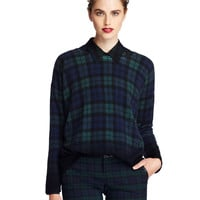Women's Apparel | 30-50% Off Reg Price Sportswear | Black Watch Plaid Cashmere Pullover Sweater | Lord and Taylor