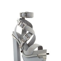 Versace - Hard Rock Leather Platform Sandals