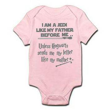 Pink Star Wars Harry Potter Baby Girl Onesuit / Funny Baby Onesuit / Funny Baby Bodysuit / Baby Girl Shower Gift /Harry Potter Star Wars Shirt