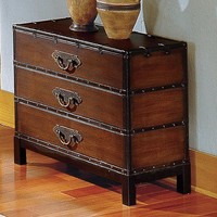 Steve Silver Furniture Voyage Chest in Multi-Step Antique Cherry