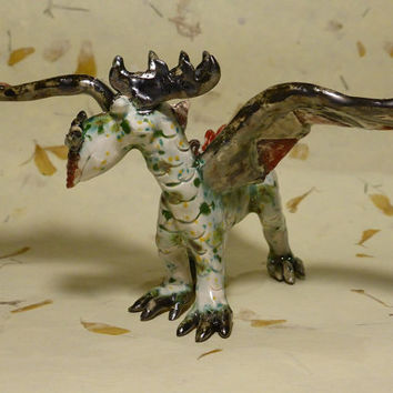 Little Dragon figurine, Dragon miniature, Dragon Sculpture Fantasy Figurine  ,,fantasy animals, magic spirit amulet,imaginary animal,