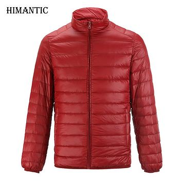 Jacket Men Casual Warm Solid Breathable Winter Duck Down Jacket Men Lightweight parka hombre Coat