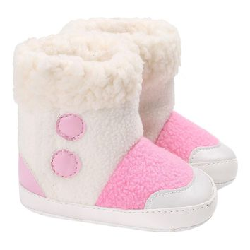 Baby Girl Boys winter boots Soft Sole Booties Snow Boots Infant Toddler Newborn Warming Shoes free ship 3 colors
