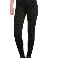 KRISTINE Ruched Compression Leggings by Nygard Slims