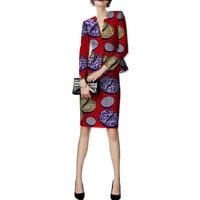 African print women skirts+blazers set fashion pattern ladies dashiki clothes custom party/wedding slim fit suit set clothing