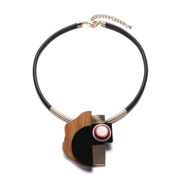 Stylish New Arrival Jewelry Gift Shiny Acrylic Accessory Geometric Necklace [10825998534]