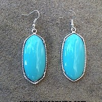 Fashion Earring in Turquoise and Silver