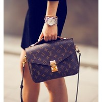 LV Louis Vuitton Popular Women Fashion Shopping Bag Leather Crossbody Satchel Shoulder Bag I