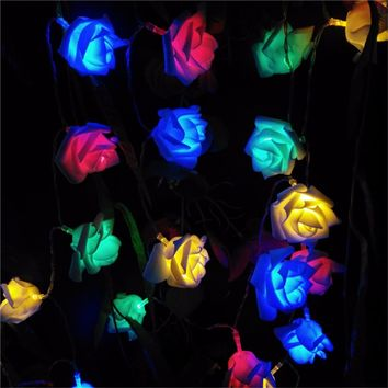YIYANG Wedding Decoration Flower Bouquet String Lights Battery Christmas Festival Party Garden Bedroom Lumiere