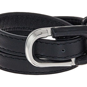 Marc Jacobs Icon Double Wrap Leather Bracelet