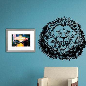 Lion Face Version 110 Sticker Wall Decal Animal King of the Jungle Art Graphic