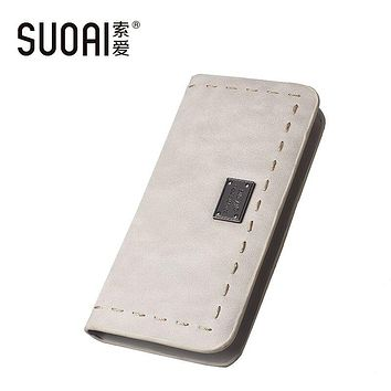 2017 New Women Wallet Fashion Long Wallet Simple Style Pu Leather Long Purse Female Wallet