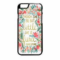Red Flowers Though She Be But Little She Is iPhone 6 Plus Case