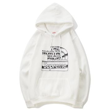 Supreme x The North Face Fashion Pullover Print  Hoodie Tops Sweater
