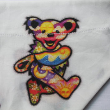 Grateful Dead Dog Bandana/Over the Collar/Scarf/Handmade/Designer
