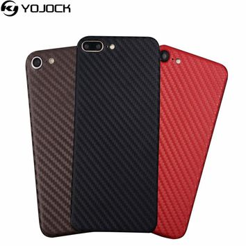 Phone Sticker Case for iPhone 7 7 plus 3D Carbon Fiber Full Body Back Film Wrap Skin Sticker Phone Shell for iPhone 5 6 6s plus