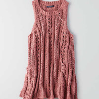 AEO Easy Open Stitch Sweater, Mauve