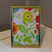 Picture Frame, 5 x 7, Rolled Edge, Vintage, Metal, Gold
