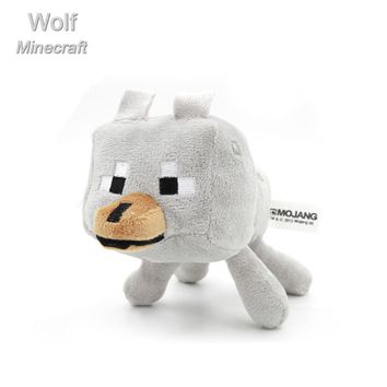 Minecraft high quality Stuffed Plush Dolls  lovely Plush MC Toys Minecraft white Wolf  Plush Toys gift