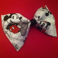 Large Vintage Mickey and Minnie Mouse Hair Bow