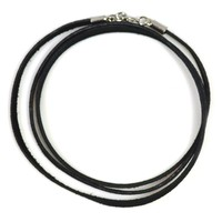 Leather Black Suede Necklace Cord