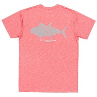 FieldTec™ Heather Performance Tee - Tuna in Strawberry Fizz by Southern Marsh