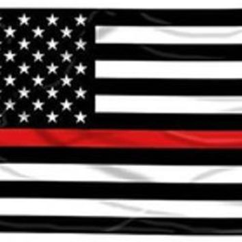 Lot of American Red Lives Matter Flags