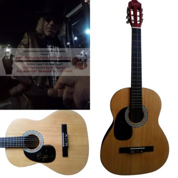 Big Kenny Autographed Full Size 39 Inch Country Music Acoustic Guitar, Big and Rich, Proof Photo
