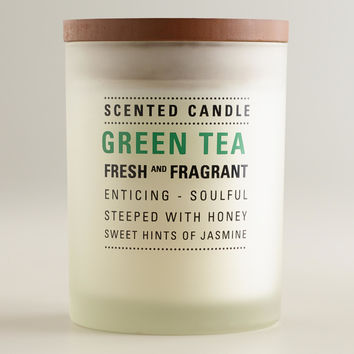 Green Tea Frosted Tumbler Candle - World Market