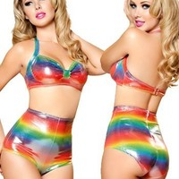 Roma Costume Women's Vintage Halter Top, Multi-Color, One Size