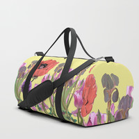 Floral fantasies Duffle Bag by anipani